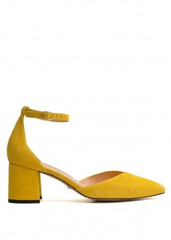 718701 Жовті замшеві туфлі