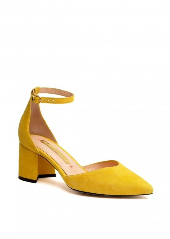 718701 Желтые замшевые туфли