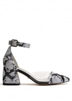 719205 Кожаные туфли на удобном каблуке