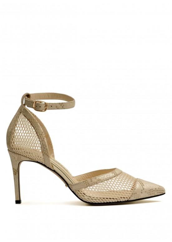 723711 Открытые бежевые туфли