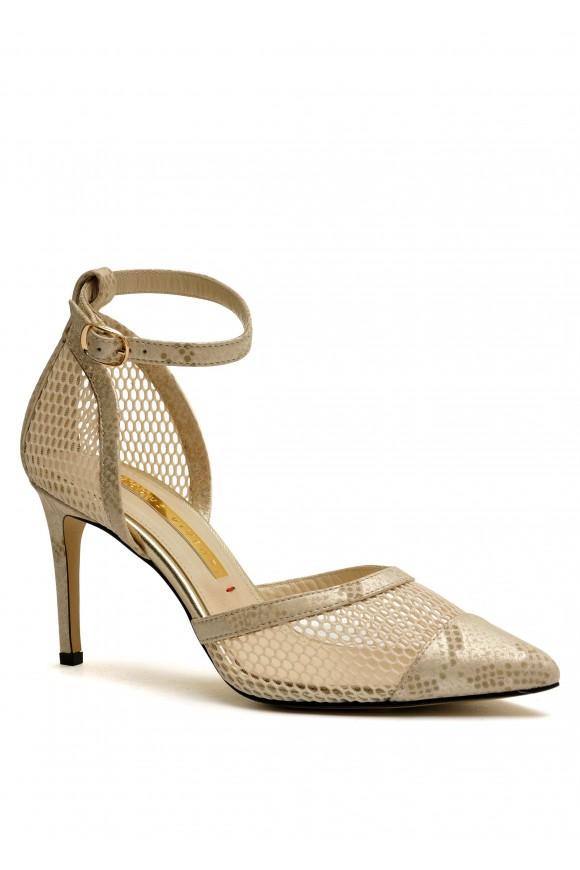 723711 Відкриті бежеві туфлі
