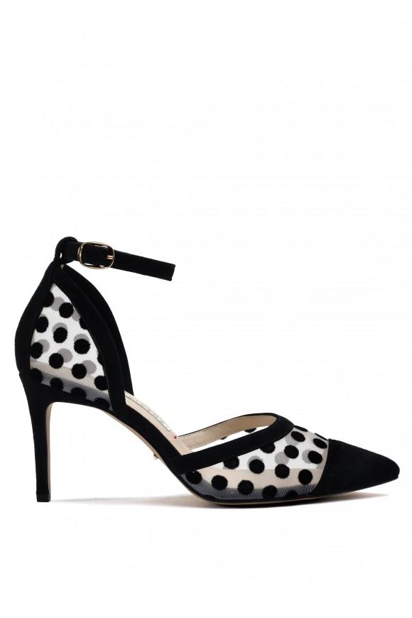723731 Элегантные черные туфли-деленки