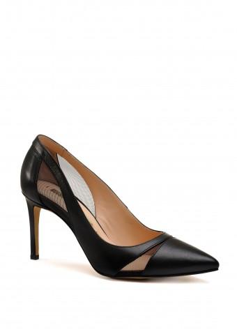 723901 Чорні шкіряні туфлі