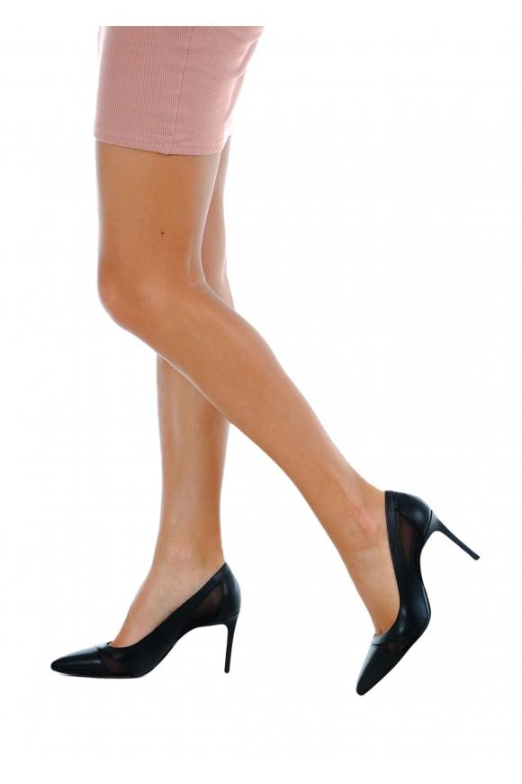 723901 Черные кожаные туфли
