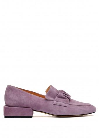 887021 Замшевые туфли на небольшом каблуке