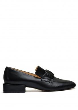 887041 Черные кожаные туфли
