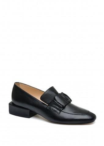 887041 Чорні шкіряні туфлі