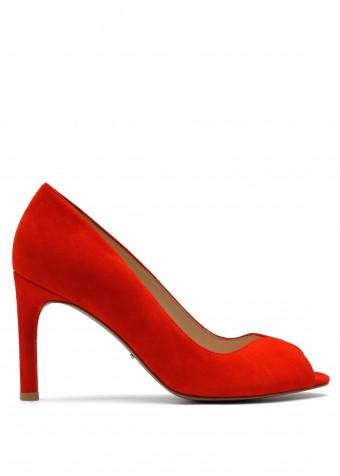 893301 Червоні замшеві туфлі