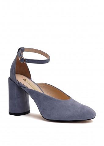 894004 Замшеві блакитні туфлі