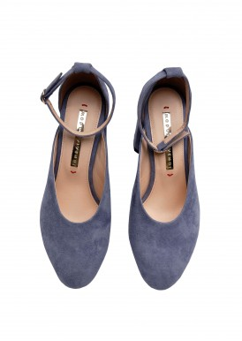 894004 Замшевые голубые туфли