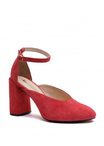 894014 Відкриті замшеві туфлі