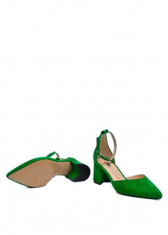 718711 Зеленые замшевые туфли