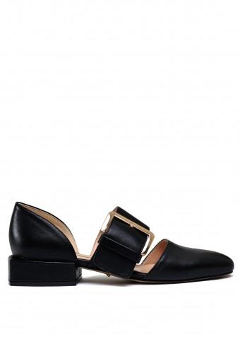 887131 Чорні шкіряні туфлі