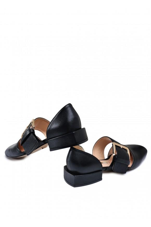 887131 Черные кожаные туфли