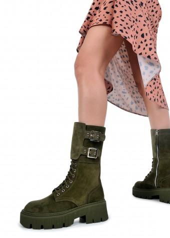 192303 Замшевые высокие ботинки