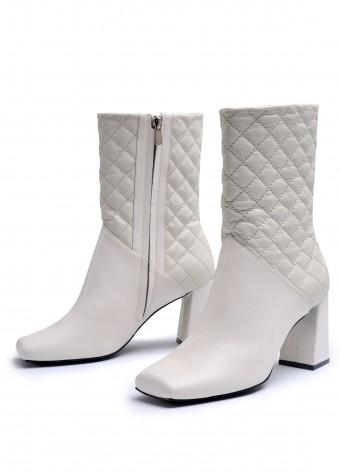 198303 Кожаные высокие ботинки