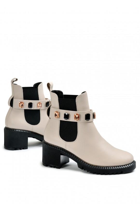 352213 Шкіряні утеплені черевики