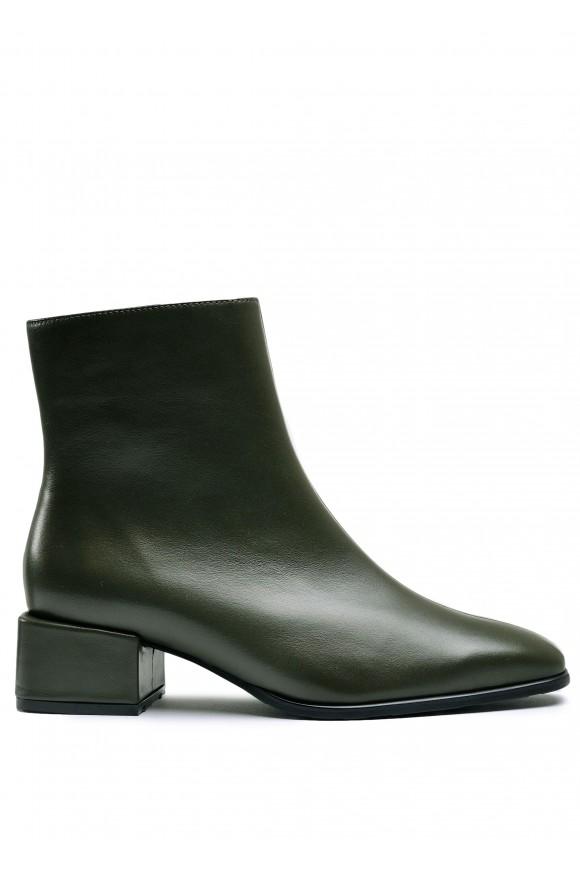 452571 Кожаные ботинки цвета хаки