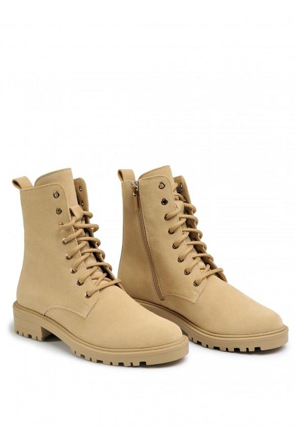 533719 Замшевые ботинки,утепленные на каучуковой подошве