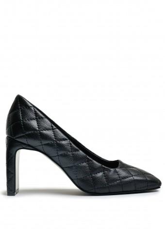 066213 Стеганые кожаные туфли