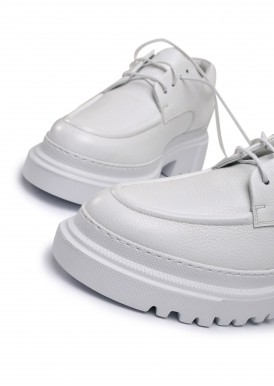 181001 Об'ємні туфлі з натуральної шкіри з полегшеною підошвою