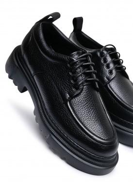 181012 Об'ємні туфлі з натуральної шкіри з полегшеною підошвою