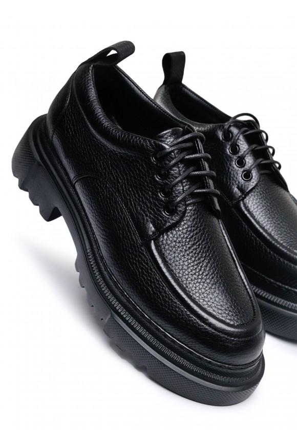 181012 Обьемные туфли из натуральной кожи с облегченной подошвой