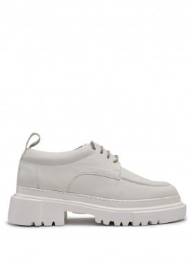 181023 Об'ємні туфлі з натуральної шкіри з полегшеною підошвою