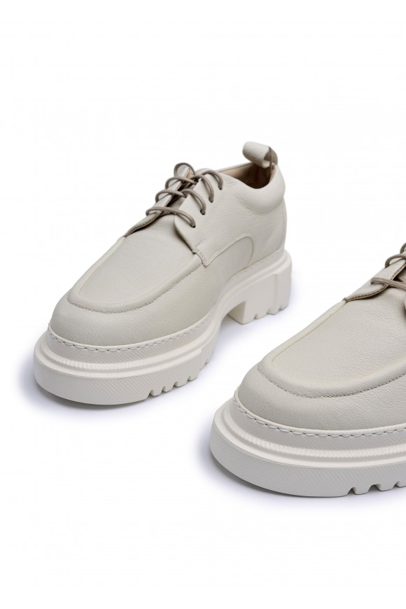 181023 Объемные туфли из натуральной кожи с облегченной подошвой