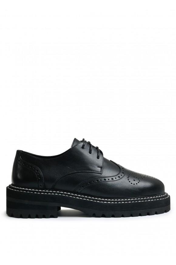 669905 Объемные туфли из натуральной кожи с облегченной подошвой