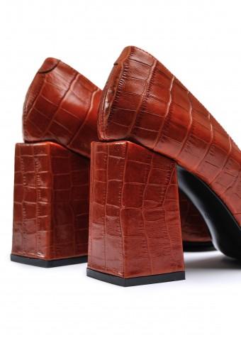 727806 Руді шкіряні туфлі