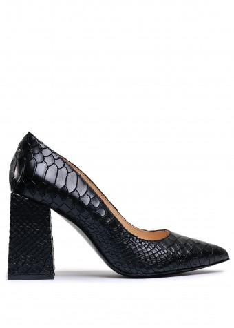 727906 Чорні шкіряні туфлі