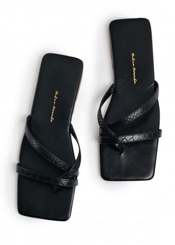 170311 Черные кожаные пантолети