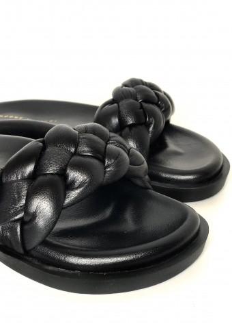 983422 Об'ємні сандалії Bubble з натуральної шкіри з полегшеною підошвою