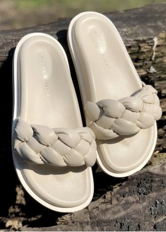 983431 Об'ємні сандалії Bubble з натуральної шкіри з полегшеною підошвою