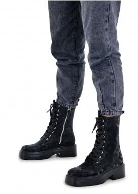 017311 Ботинки на шнурках из натуральной кожи