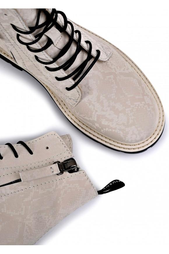 668021 Бежевые ботинки низкий ход