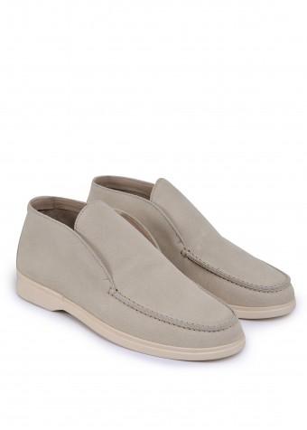 329412 Бежеві замшеві черевики