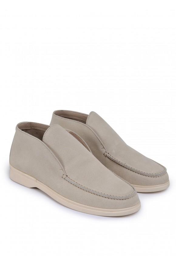 329412 Бежевые замшевые ботинки