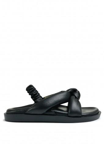 983222 Объемные сандалии Bubble из натуральной кожи с облегченной подошвой