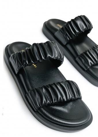 983513 Объемные сандалии Bubble из натуральной кожи с облегченной подошвой