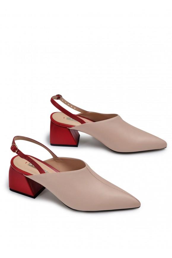 315012 Комбіновані шкіряні туфлі Lily Rose
