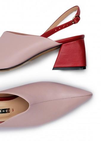 315012 Комбинированые кожаные туфли Lily Rose