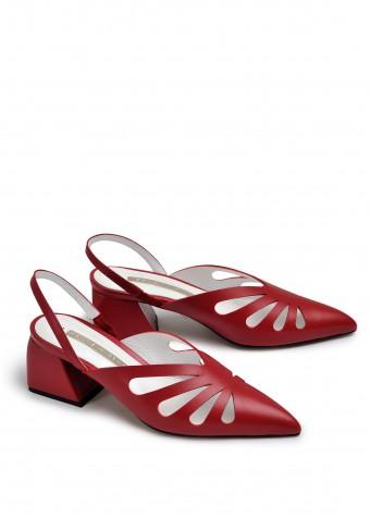 315102 Літні туфлі на стійкому каблуці