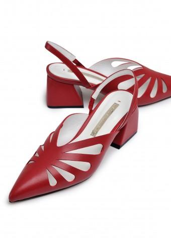315102 Летние туфли на устойчивом каблуке