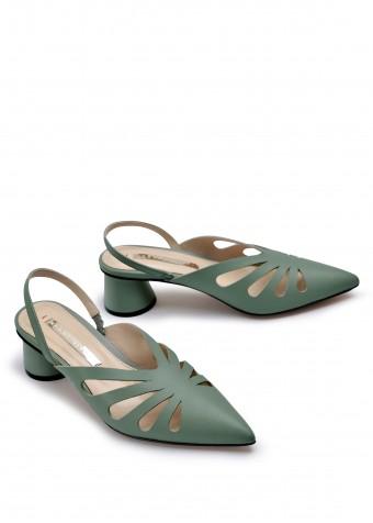 315117 Открытые туфли на среднем каблуке