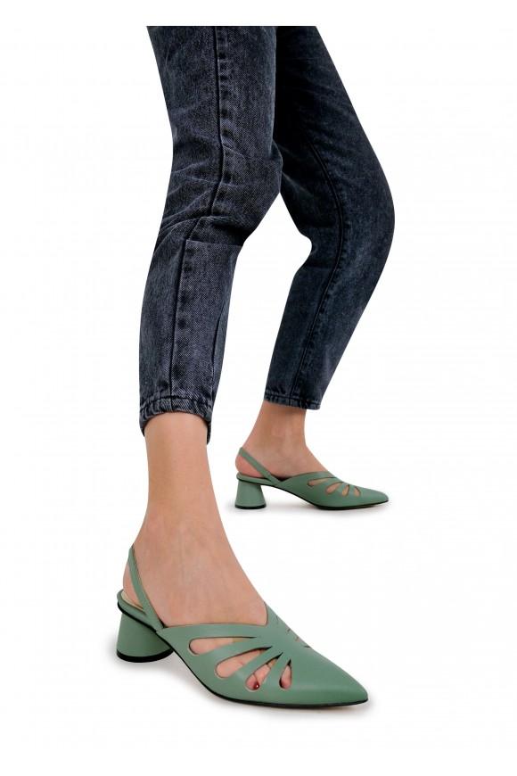 315117 Відкриті туфлі на середньому каблуці
