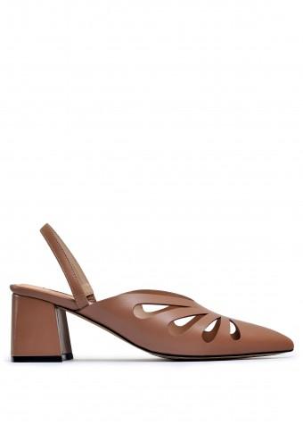 315126 Відкриті шкіряні туфлі