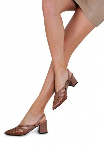 315126 Открытые кожаные туфли