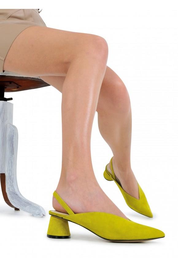 315207 Яркие замшевые туфли